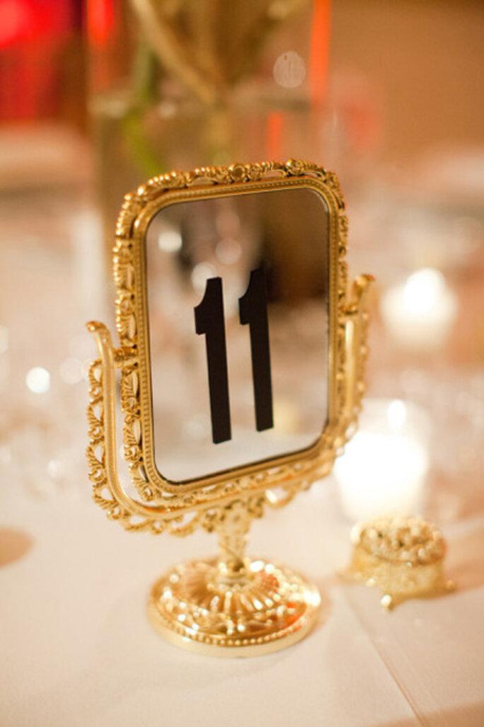 Inspiración en oro para boda. Foto de KT-Merry-Photography.