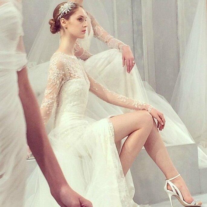 Monique Lhuillier, collection de robes de mariée 2015. Photo: réseaux sociaux