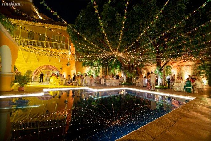 Events & Weddings Tw decoración con luces Cartagena