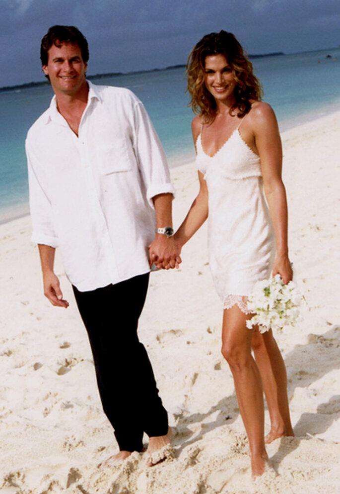 Vestido de novia de Cindy Crawford