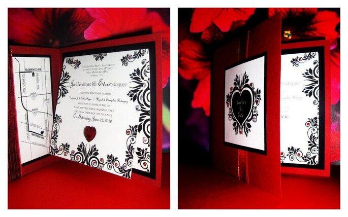 Invitaciones para boda coloridas. Foto de Víctor Jacobo, Diseño Gráfico.