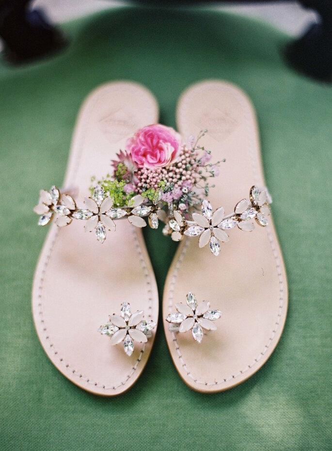 sandália casamento na praia