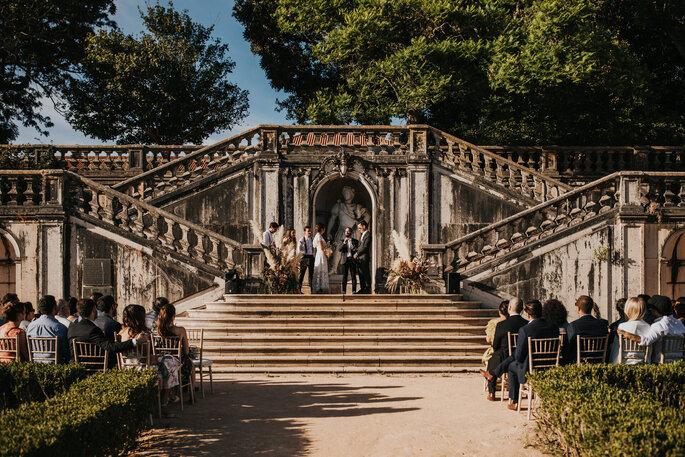 Escadarias no jardim botânico