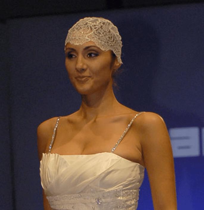 Accesorio de pelo de encaje para novias