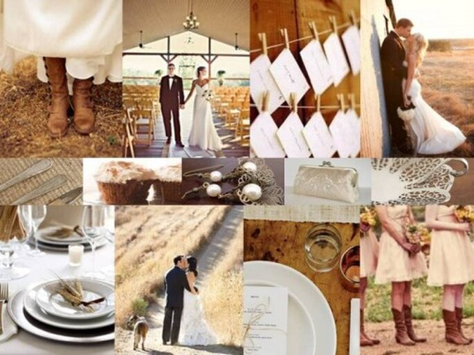 Out in the Country: A Palette of Latte & Ivory via The Perfect Palette