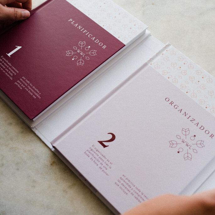 Libro y agenda de Weddings With Love. Foto: Doncel y Alcoba