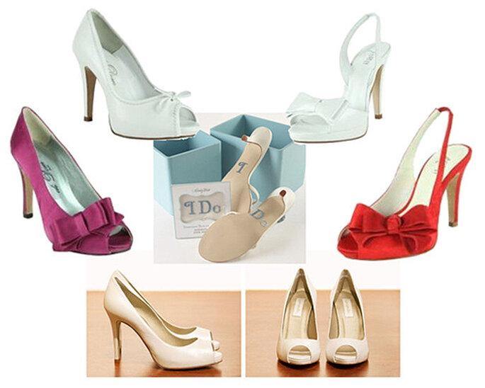 Elige zapatos con color para tu boda. Modelos: Jimmy Choo, Pilar Burgos y Didom
