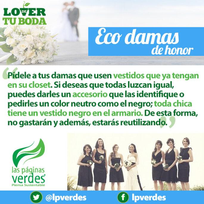 Outfits ecológicos para las damas de tu boda sustentable - Foto Las Páginas Verdes