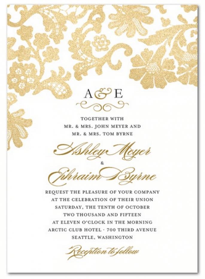 Invitaciones de boda con diseños clásicos - Foto Wedding Paper Divas