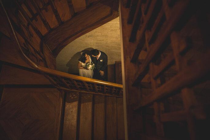 Ensaio dos noivos após cerimônia