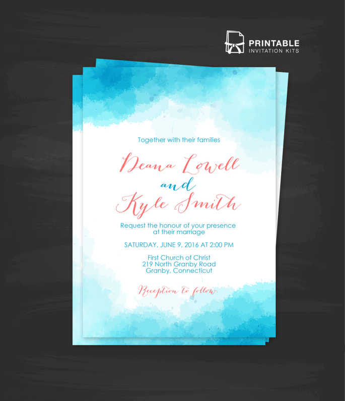 Photo : Printable Invitation Kits
