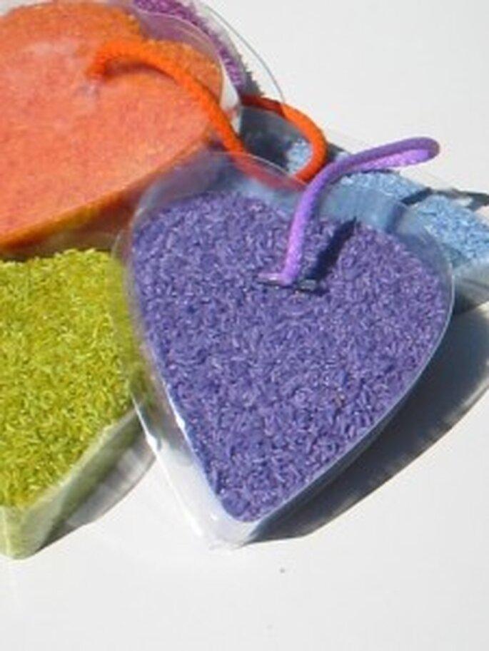 Arroz de colores para bodas