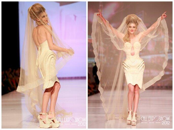 Robe de mariée Jean Paul Gaultier 2013. Photo: Cali Exposhow 2012