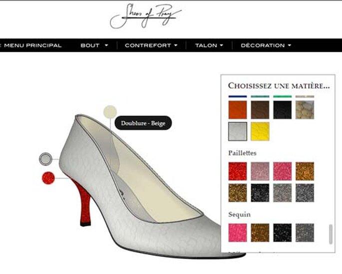 Chez Shoes of Prey, on peut créer soi-même son modèle en ligne. Copyright : Shoes of Prey