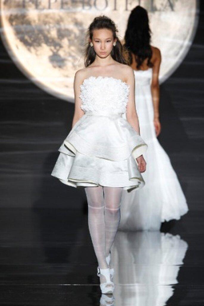 Vestido de novia corto de Pepe Botella