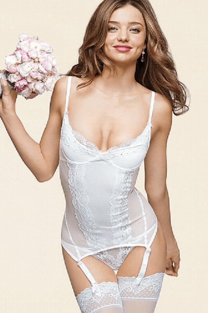 Ein Dessous Traum für die Braut in weiß