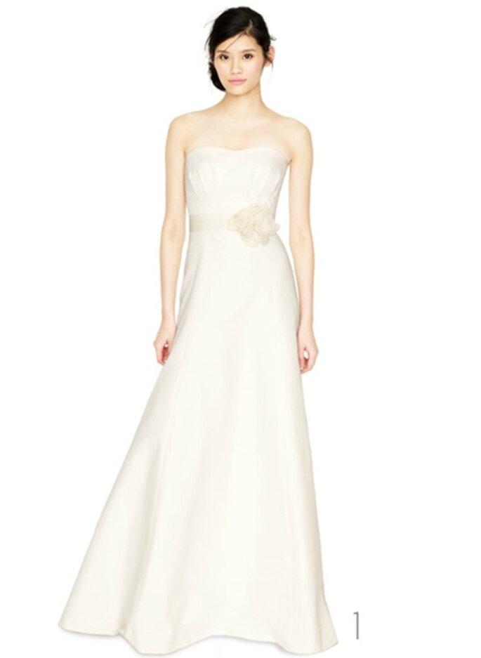 Vestido de novia con cinto de rosa - Foto: JCrew Wedding Collection 2012