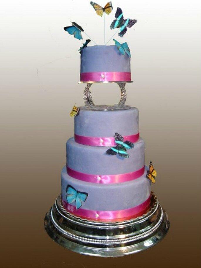 Pièce montée Butterfly : au top pour un mariage champêtre ! - Gâteau Création