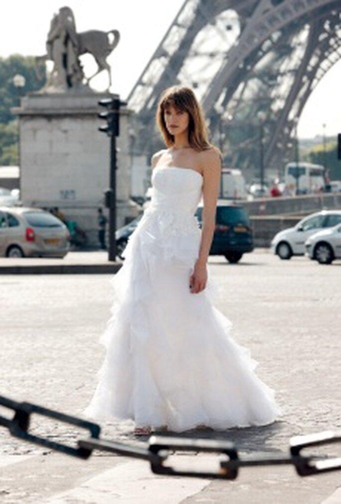 Cymbeline 2010 - Dedicace, vestido largo en organza con escote recto