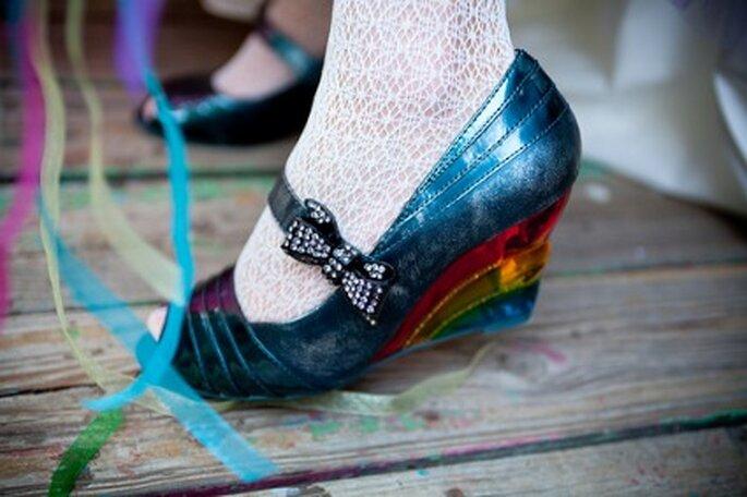 Chaussure de mariée coloré - Credits Bonnie J Heath