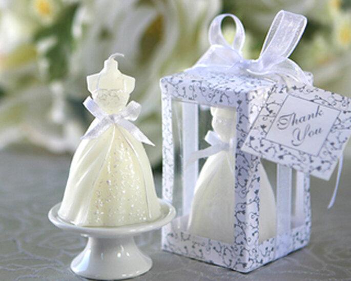 Vela con formato de novia