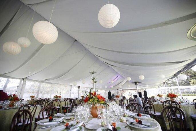 Las haciendas también cuentan con espacios para celebrar el baquete al aire libre. Foto: Artevisión Wedding Photography
