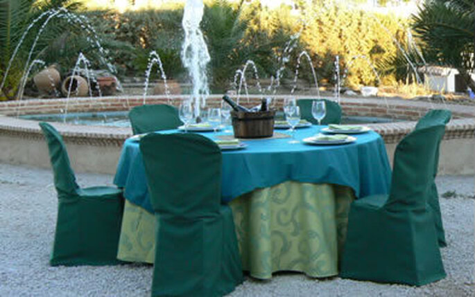 Elementos para el banquete de bodas