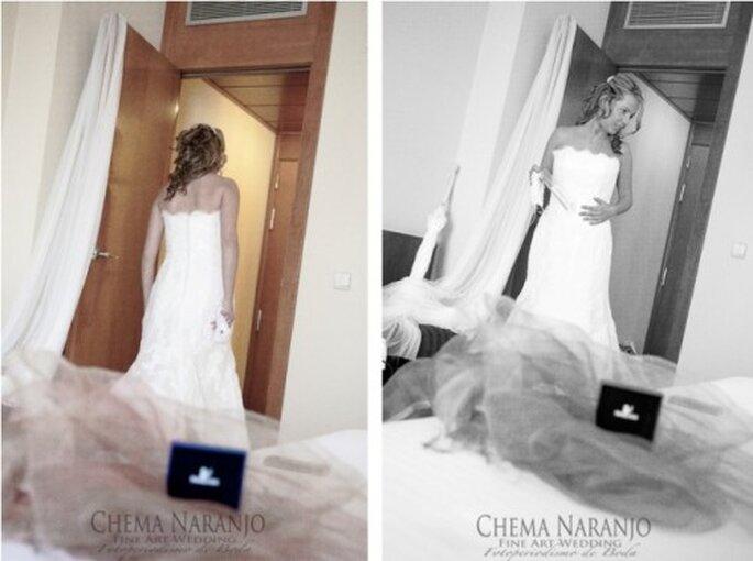 So sitzt das Hochzeitskleid prima - Foto: Chema Naranjo