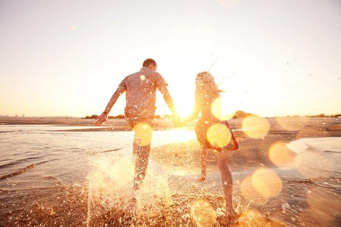 Coupleshoot. Pärchen am Strand