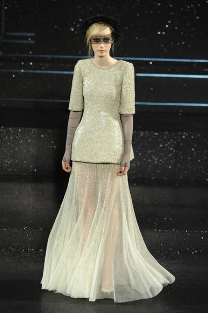 El juego fascinante en la transparencia de Chanel Haute Couture 2011-2012