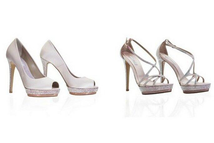 Due modelli tacco 12 della Collezione Sposa 2012 di Le Silla