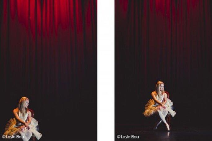 Sesión preboda inspirada en el ballet y la música. Fotografía Layla Eloa