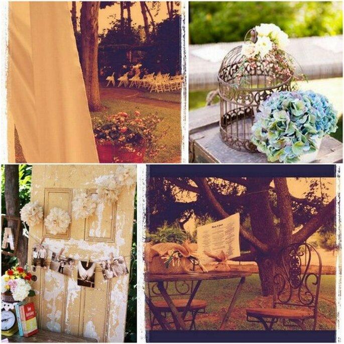 Los detalles más románticos en tu decoración de bodas. Fotos: Colores de Boda y Anima Catering