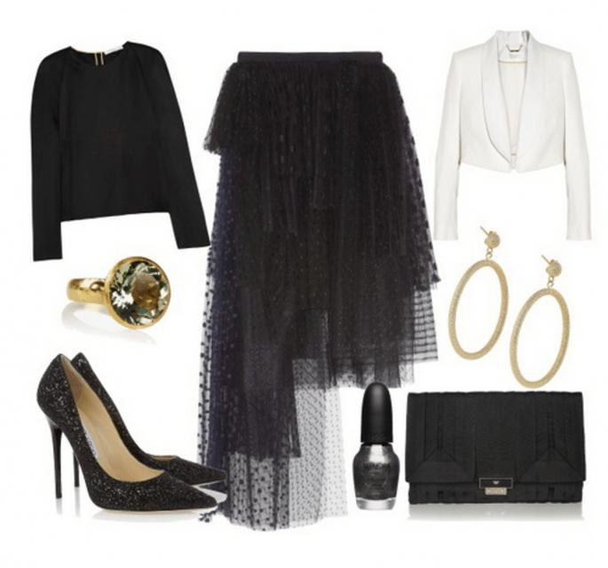 Cómo combinar una falda tul para tu look de fiesta - Fotos: Net A Porter