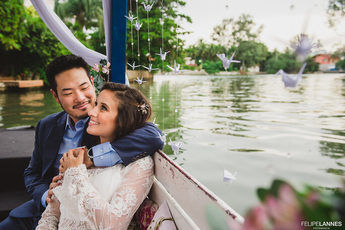 Casal no barco