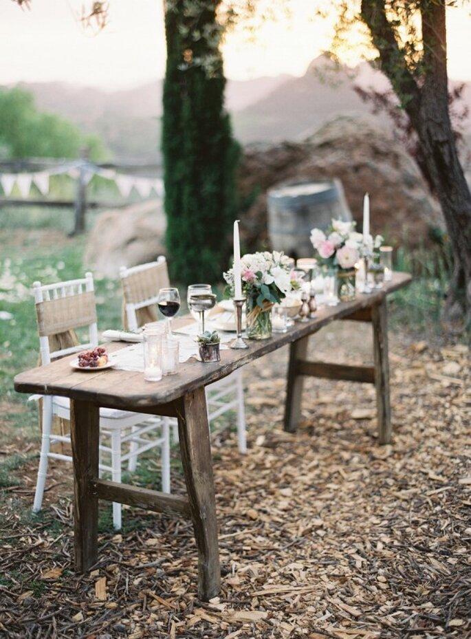 Texturas de madera para un montaje perfecto de boda - Foto Kurt Boomer