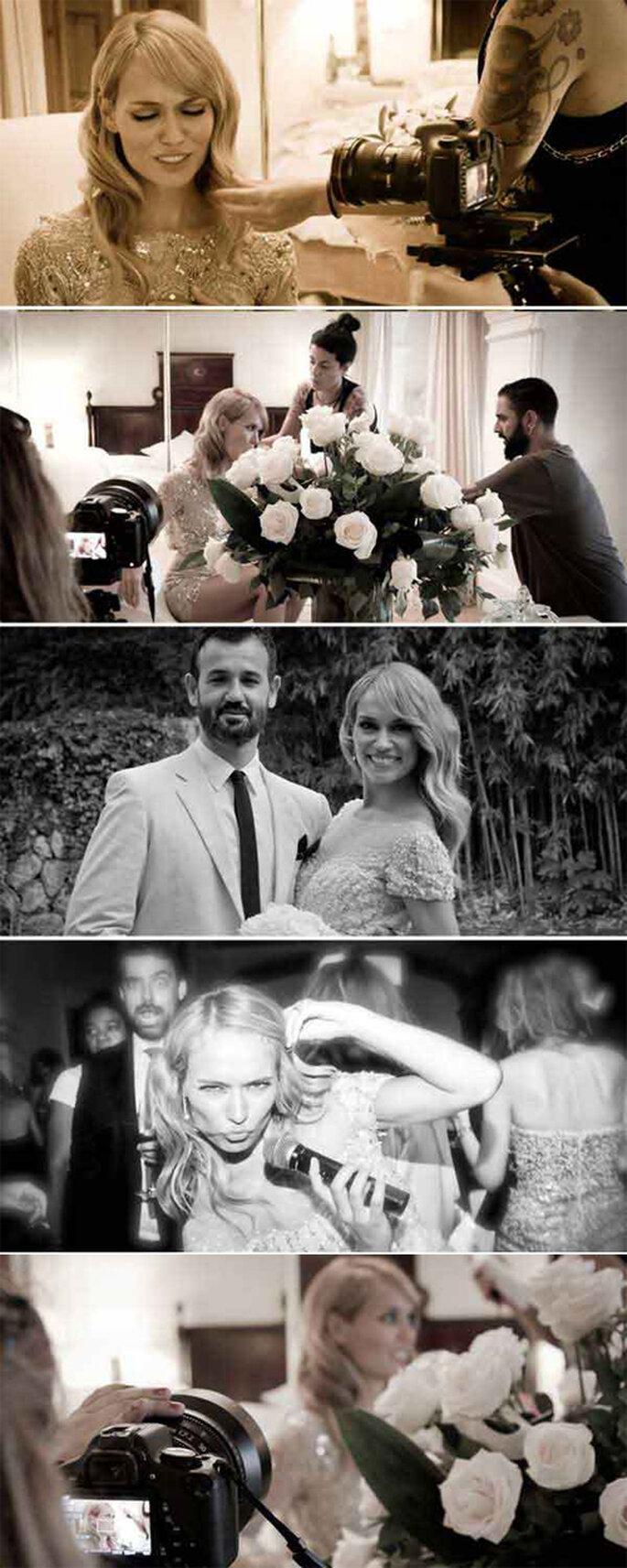 Las fotos de la boda nos dejan ver un poquito más de los vestidos de la novia, así como del maquillaje y el peinado. Foto: hola.com