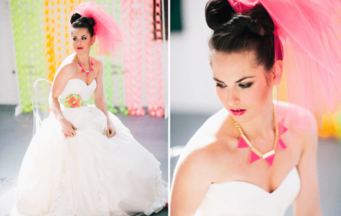 Accesorios en color neón para novia - Foto Cathrin D'Entremont