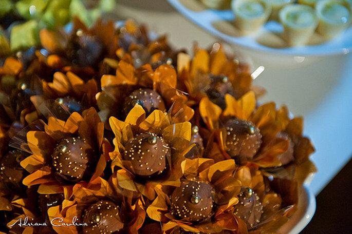 Ideas para bocadillos dulces en tu celebración de boda. Foto de Adriana Carolina