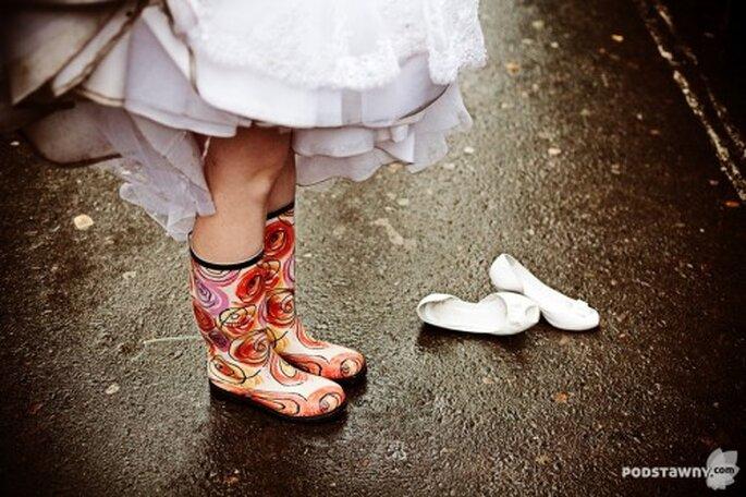ślub w deszczu