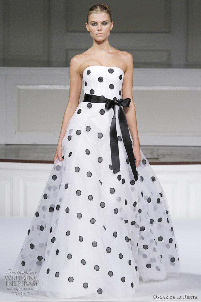 Bianco e nero per le più eccentriche. Foto: oscardelarenta.com