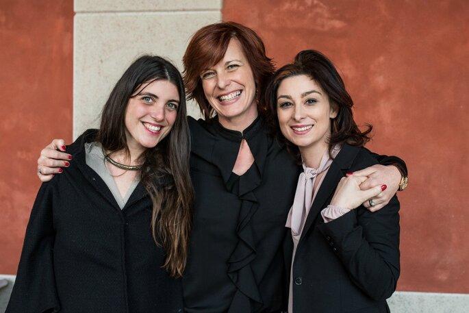 In ottima compagnia con Monia Re e Livia Vietri dell'Associazione Wedding Planners