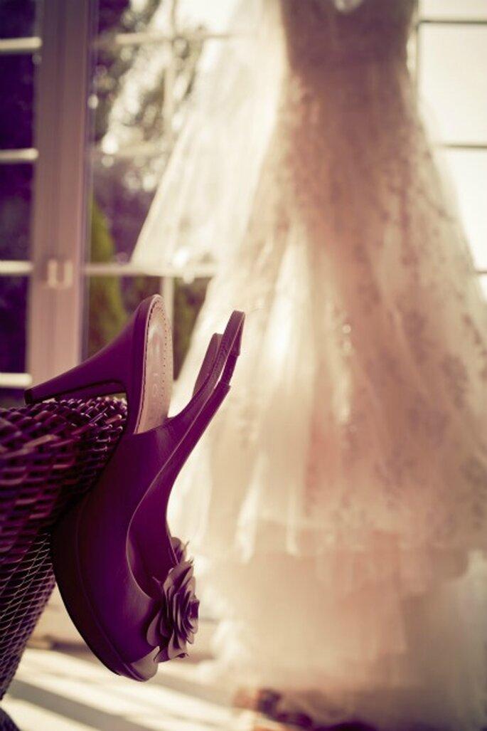 El vestido y los zapatos de la novia-Foto: Adrián Tomadín
