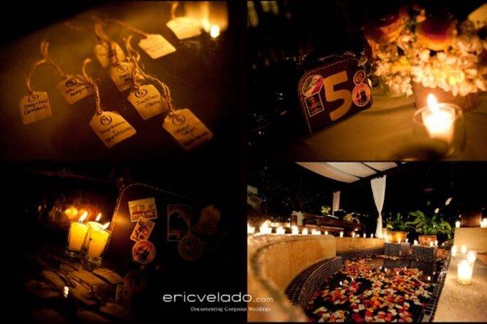 Place cards para la mesa de boda. Fotografía Eric Velado
