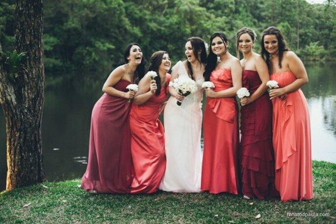 Como escoger los ramos de las damas de honor. Fotografía Renato D Paula