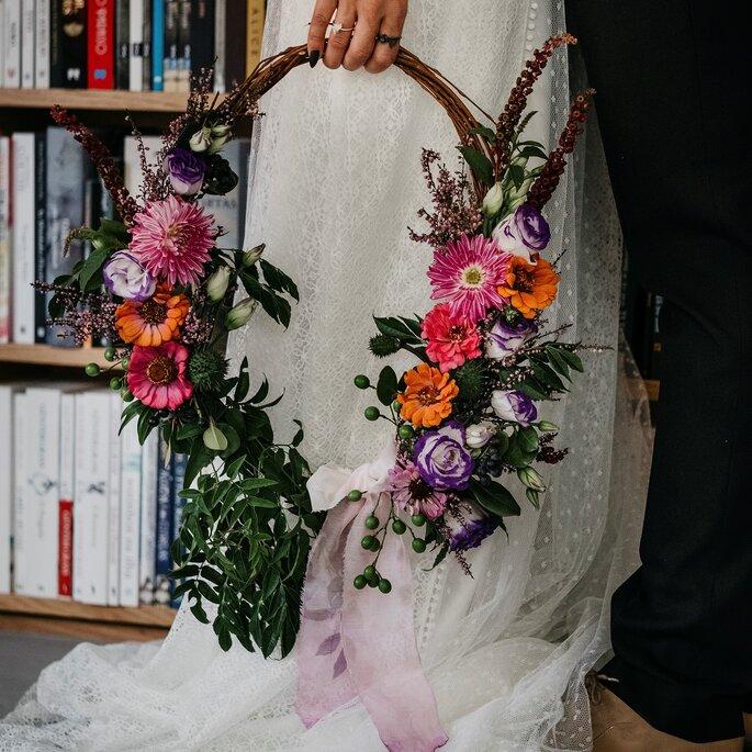 bouquet de noiva em aro