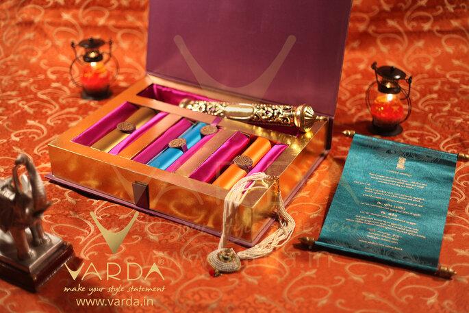 Photo: Vardha Designer Wedding Invitation Cards