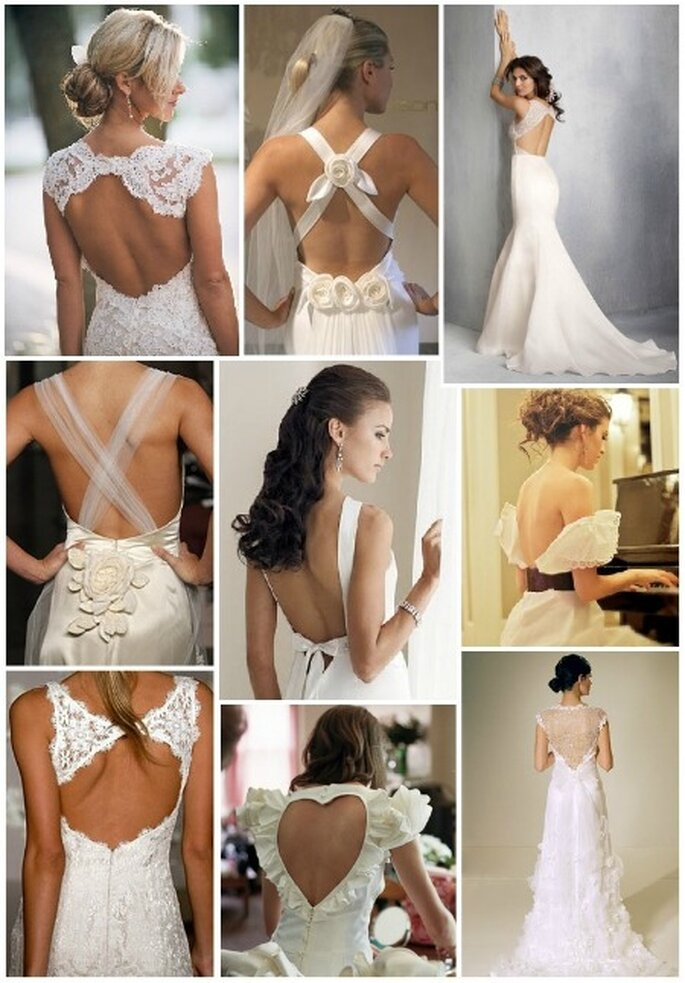 Vestidos de novia para seducir con la espalda descubierta