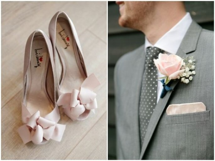 Detalles para tu boda en color gris sutil - Foto Dasha Caffrey Photography