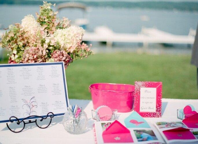 Elementos decorativos de la novia con estilo femenino - Foto Jen Lynne